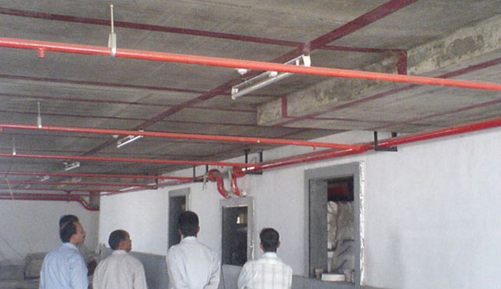 Fire Suppression Pipe : Fire fighting pipe installation security sistems